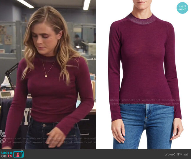 Pamela Merino Wool Knit by Rag & Bone worn by Michaela Stone (Melissa Roxburgh) on Manifest