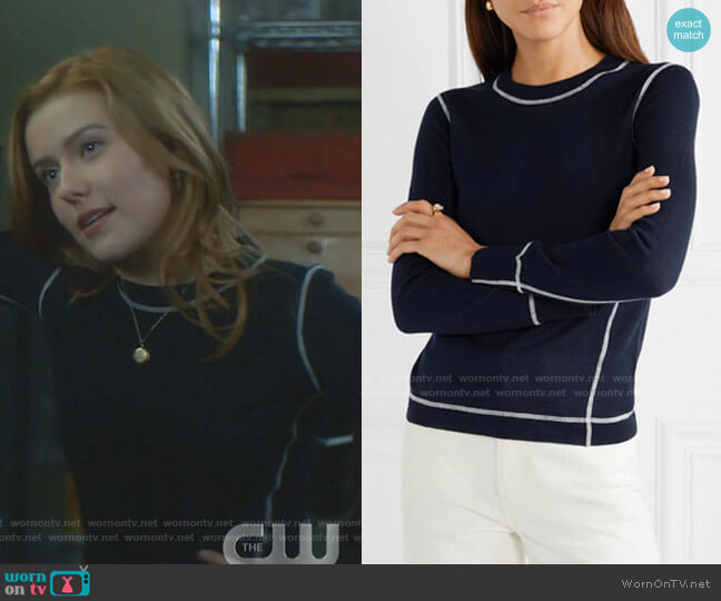 Shannon Sweater by Rag & Bone worn by Nancy Drew (Kennedy McMann) on Nancy Drew