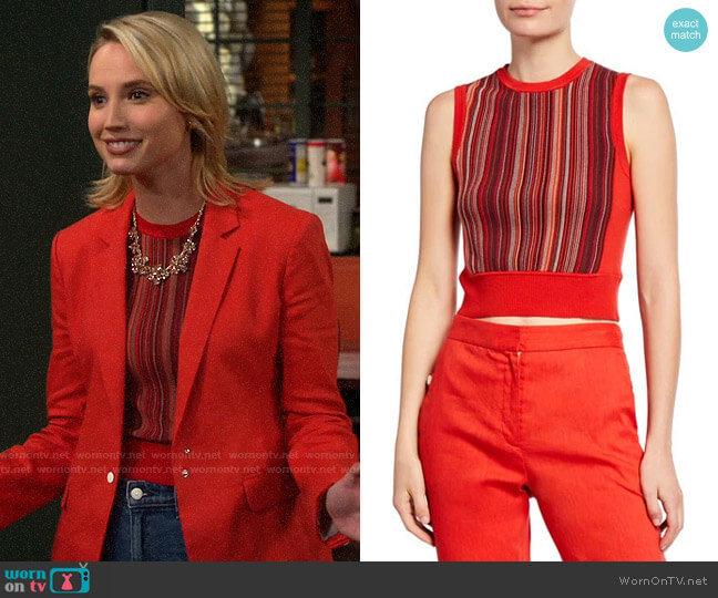 Rag & Bone Lisse Knit Tank worn by Mandy Baxter (Molly McCook) on Last Man Standing