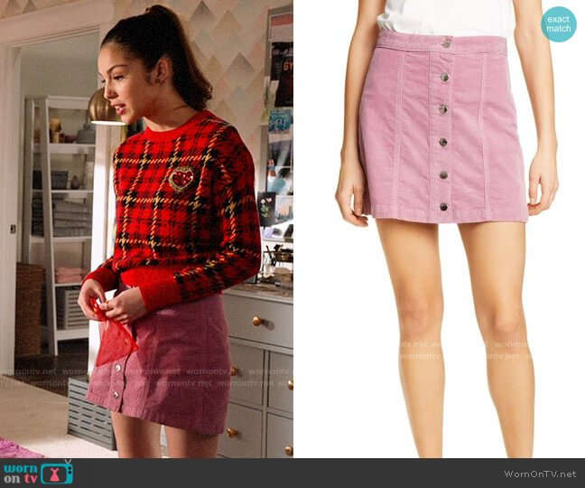 Rag & Bone Rosie Skirt worn by Nini (Olivia Rodrigo) on High School Musical The Musical The Series