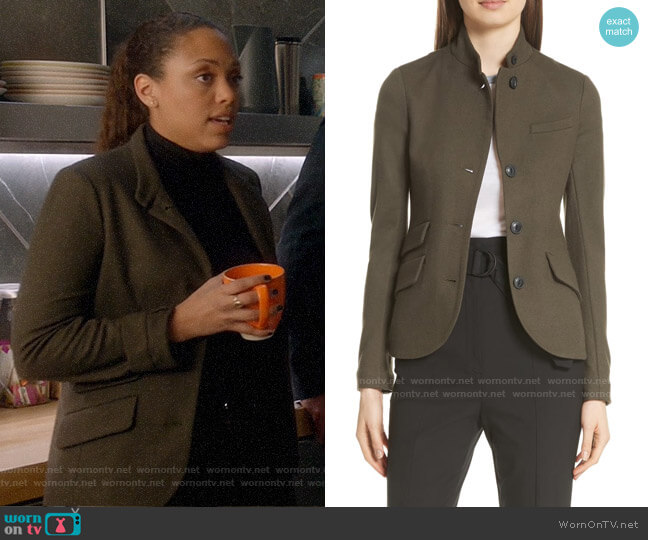 Rag & Bone Slade Blazer worn by Danny James (Jaime Lee Kirchner) on Bull