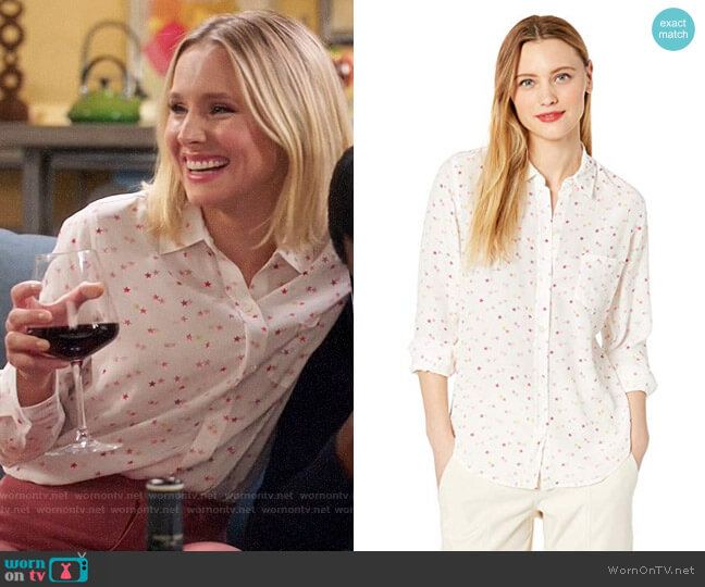 Rails Kate Top in Etoiles worn by Eleanor Shellstrop (Kristen Bell) on The Good Place