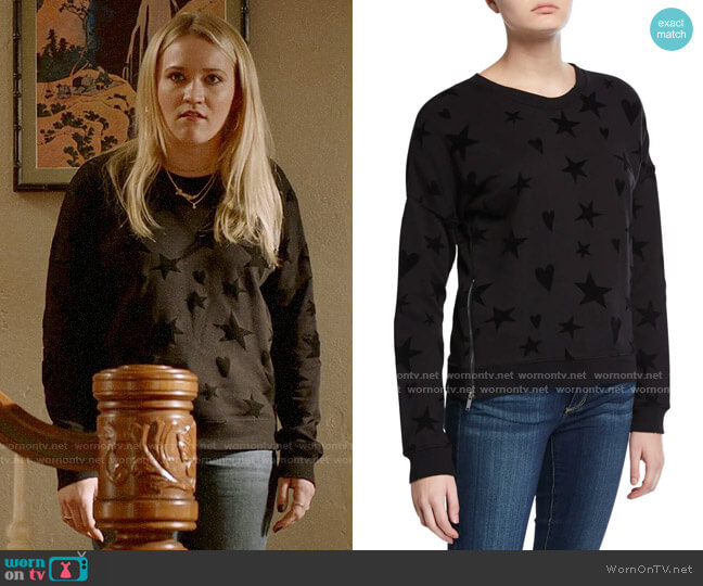 Rails Marlo Hearts Stars Sweater worn by Roxy Doyle (Emily Osment) on Almost Family