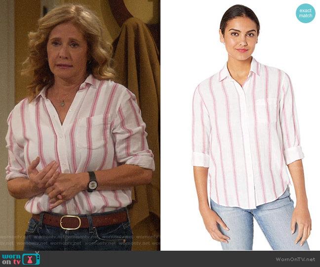 Rails Reagan Shirt in Tulip Stripe worn by Vanessa Baxter (Nancy Travis) on Last Man Standing