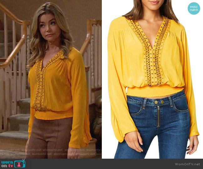 Ramy Brook Jodi Blouse worn by Shauna Fulton (Denise Richards) on The Bold & the Beautiful