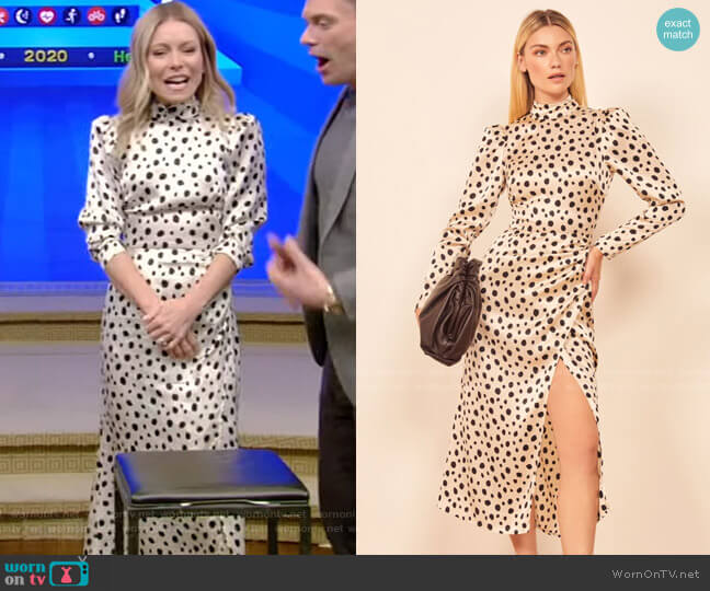 Carmelina Dress by Reformation worn by Kelly Ripa  on Live with Kelly & Ryan