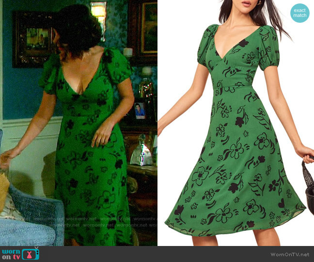 Reformation Kacey Dress worn by Summer Townsend (Marie Wilson) on Days of our Lives