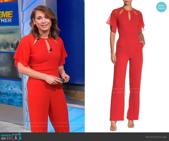 Scarlet Jumpsuit by Reiss worn by Ginger Zee  on Good Morning America