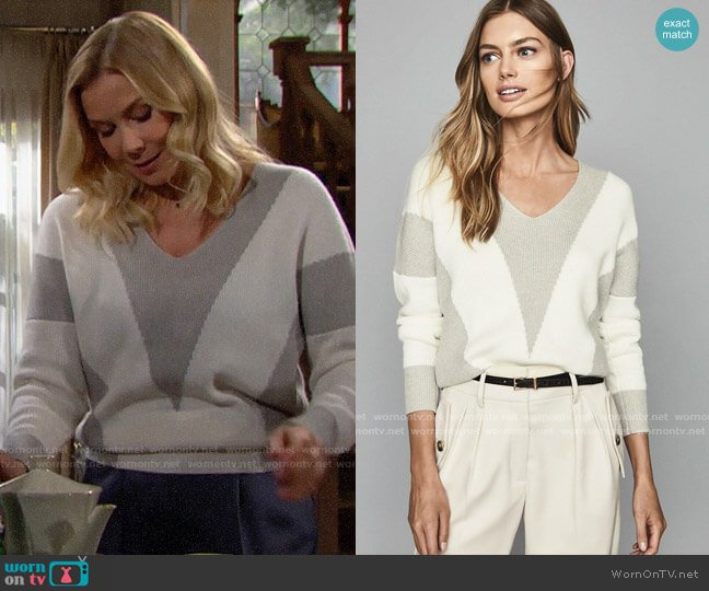 Reiss Erica Sweater worn by Brooke Logan (Katherine Kelly Lang) on The Bold & the Beautiful