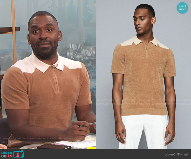 Wyatt Polo by Reiss worn by Justin Sylvester  on E! News