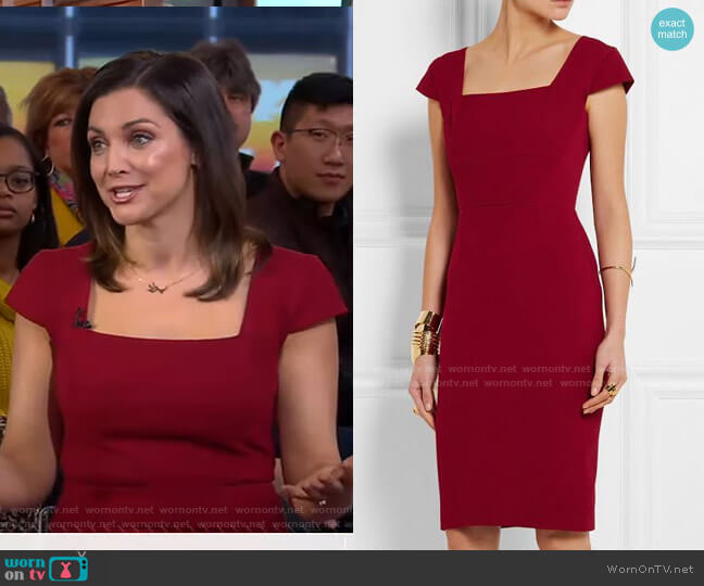 Jeddler Dress by Roland Mouret worn by Paula Faris  on Good Morning America