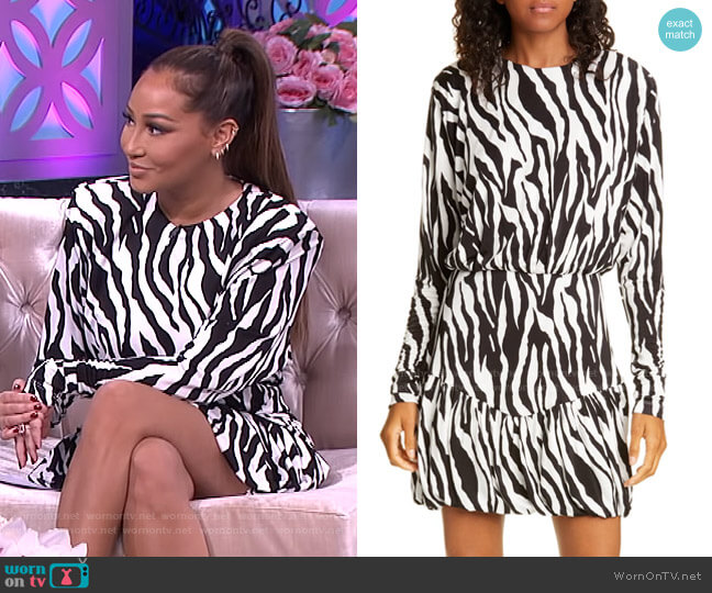 Alina Minidress by Rotate worn by Adrienne Houghton  on The Real