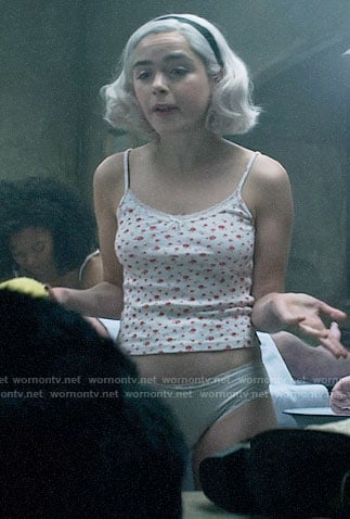 Sabrina's floral cami on Chilling Adventures of Sabrina