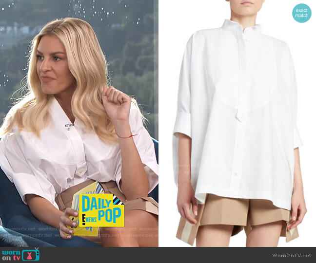 Cotton Poplin Tuxedo Shirt by Sacai worn by Morgan Stewart  on E! News