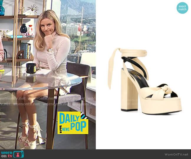 Bianca Platform Sandals by Saint Laurent worn by Morgan Stewart  on E! News