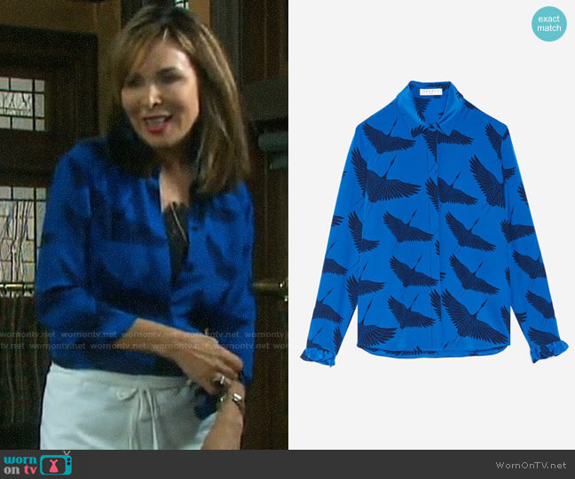 Sandro Lena Shirt worn by Kate Roberts (Lauren Koslow) on Days of our Lives