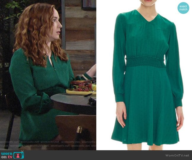 Sandro Claudia Dress worn by Mariah Copeland (Camryn Grimes) on The Young & the Restless