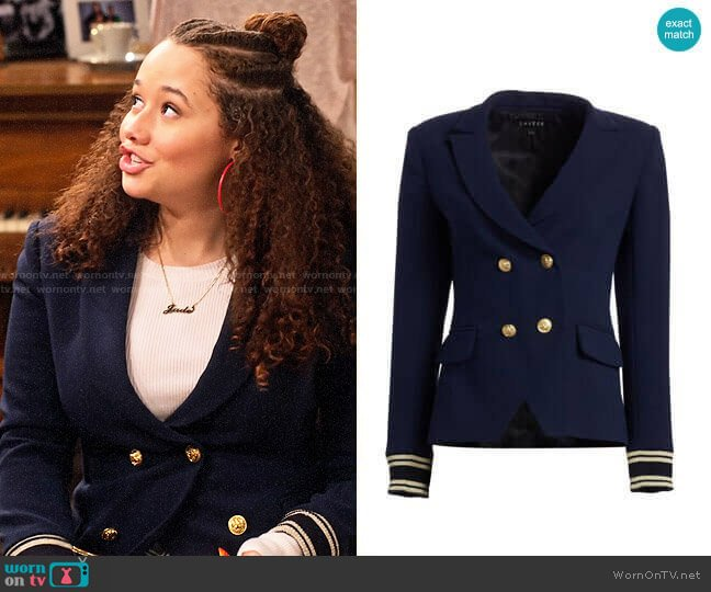Scripted Double Breasted Blazer worn by Jade (Talia Jackson) on Family Reunion