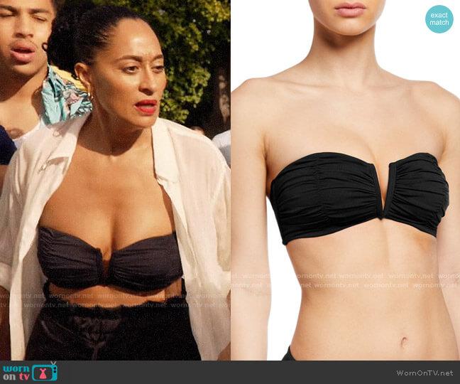 Seafolly Ruched Bandeau Bikini Top worn by Rainbow Johnson (Tracee Ellis Ross) on Blackish