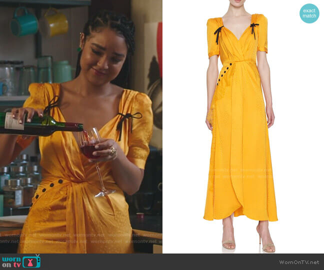Twisted Jacquard Dress by Self Portrait worn by Kat Edison (Aisha Dee) on The Bold Type
