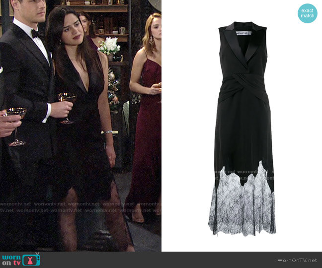 Self Portrait Lace Tuxedo Dress worn by Lola Rosales (Sasha Calle) on The Young & the Restless