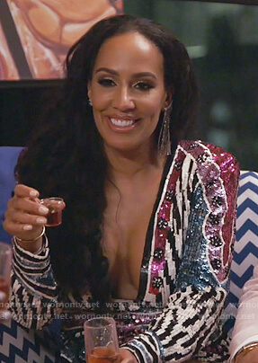Tanya Sam's sequin mini dress on The Real Housewives of Atlanta
