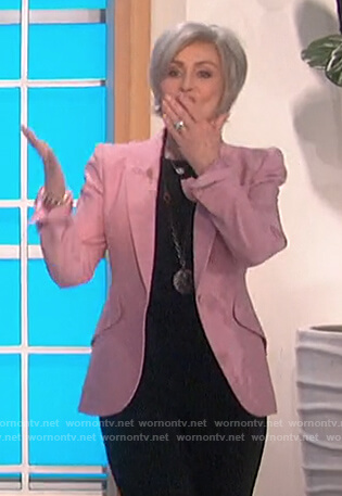 Sharon's pink blazer on The Talk
