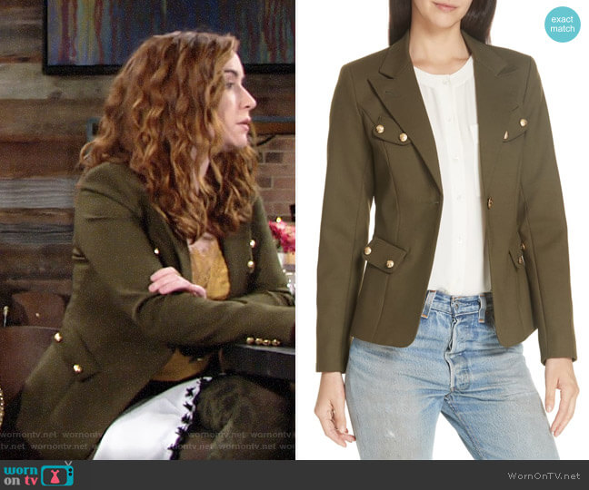 Smythe Button Detail Classic Blazer worn by Mariah Copeland (Camryn Grimes) on The Young & the Restless
