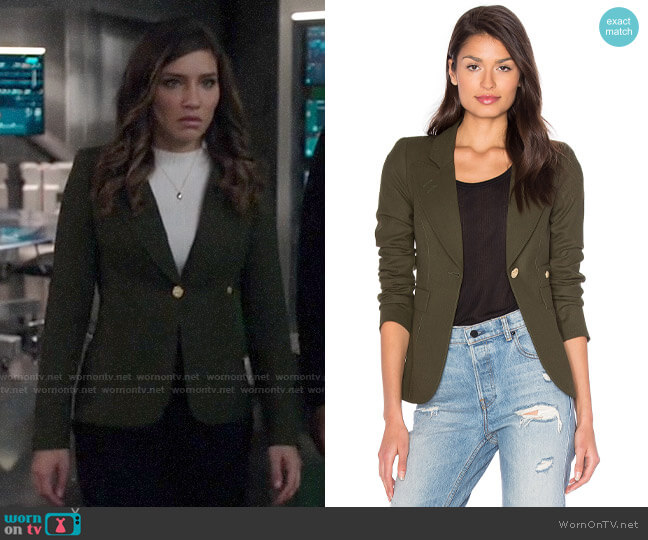 Smythe Duchess Blazer in Army worn by Dinah Drake (Juliana Harkavy) on Arrow