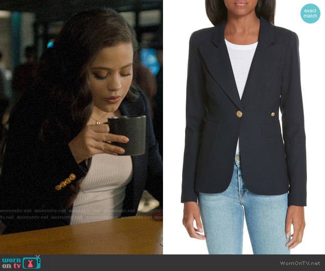 Smythe Duchess Blazer worn by Maggie Vera (Sarah Jeffery) on Charmed