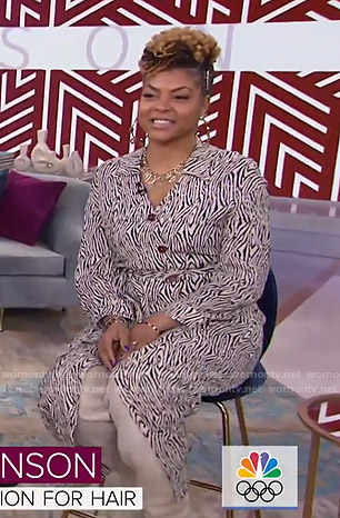 Taraji P. Henson's zebra print shirtdress on Today