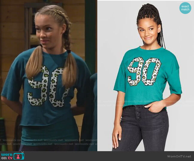 Leopard Print 90s Cropped T-Shirt by Grayson Threads as Target worn by Ava (Shelby Simmons) on Bunkd