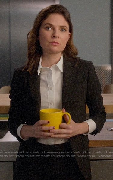 Taylor's pinstripe suit on Bull
