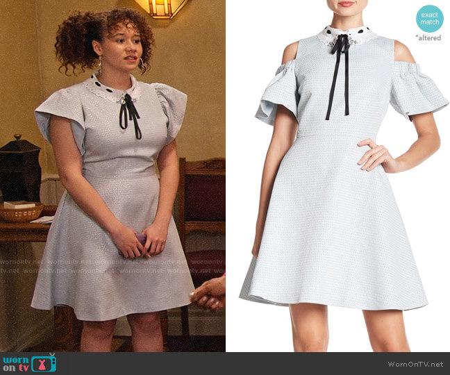 Ted Baker Araye Dress worn by Jade (Talia Jackson) on Family Reunion