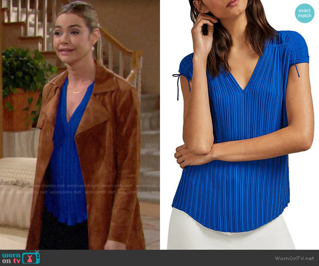 Ted Baker Chasta Top worn by Shauna Fulton (Denise Richards) on The Bold & the Beautiful