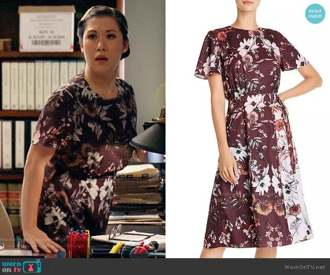 Ted Baker Yaela Amethyst Dress worn by Sherri Kansky (Ruthie Ann Miles) on All Rise
