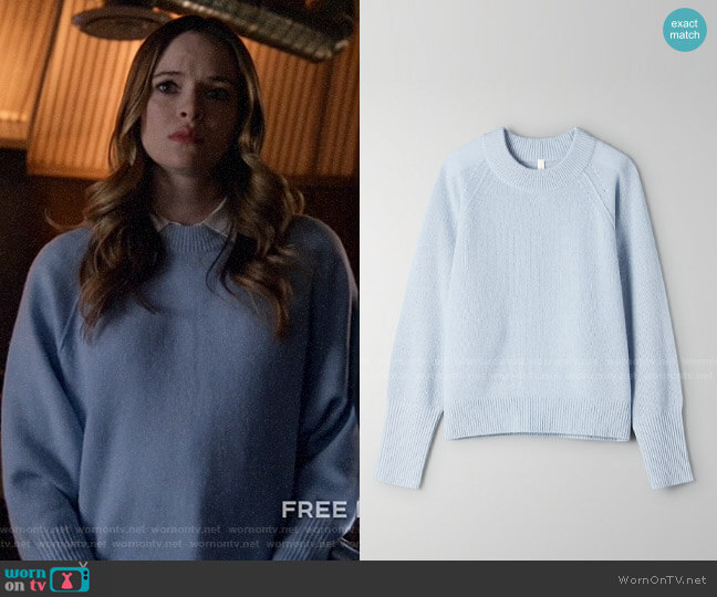 Aritzia The Group by Babaton Luxe Cashmere Classic Crew worn by Caitlin Snow (Danielle Panabaker) on Legends of Tomorrow