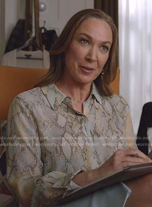 The Major's snake print blouse on Manifest