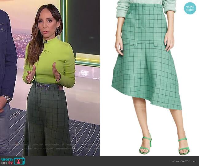 Windowpane Cargo Skirt by Tibi worn by Lilliana Vazquez  on E! News
