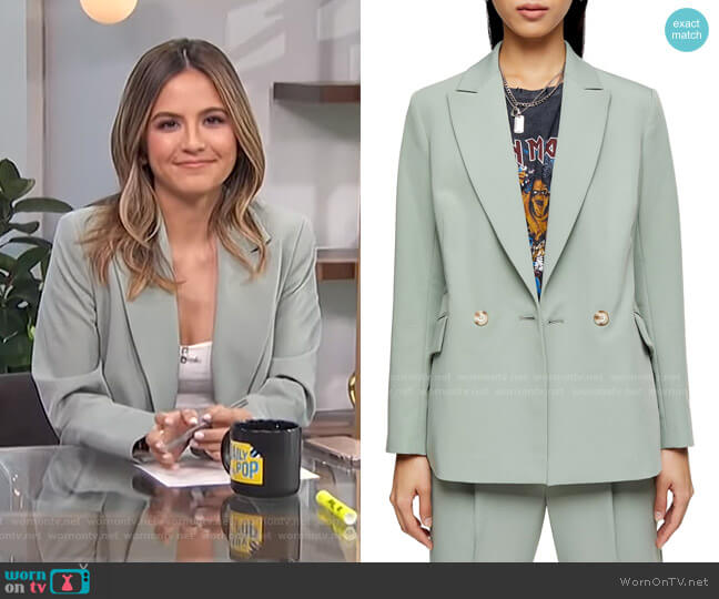 Kiki Double Breasted Blazer by Topshop worn by Erin Lim  on E! News