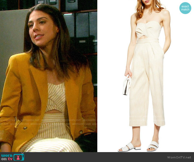 Topshop Twist Bandeau Jumpsuit worn by Abigail Deveraux (Kate Mansi) on Days of our Lives