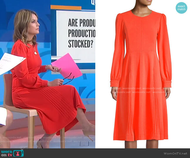 Knit Crepe Dress by Tory Burch worn by Savannah Guthrie  on Today