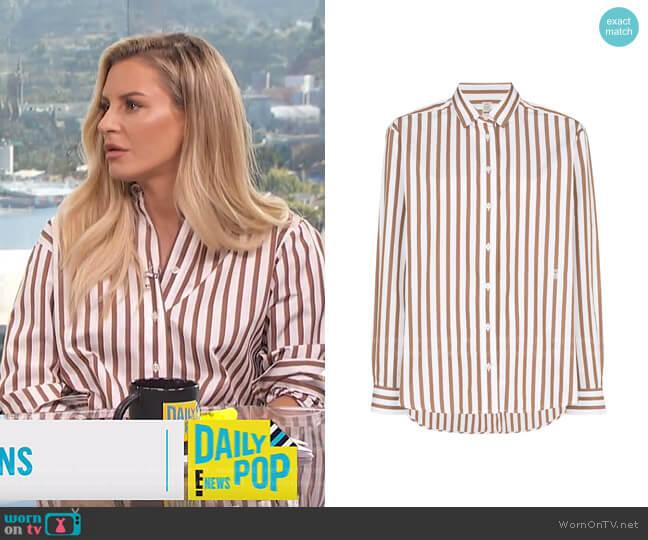 Capri Button-Down Striped Shirt by Toteme worn by Morgan Stewart  on E! News