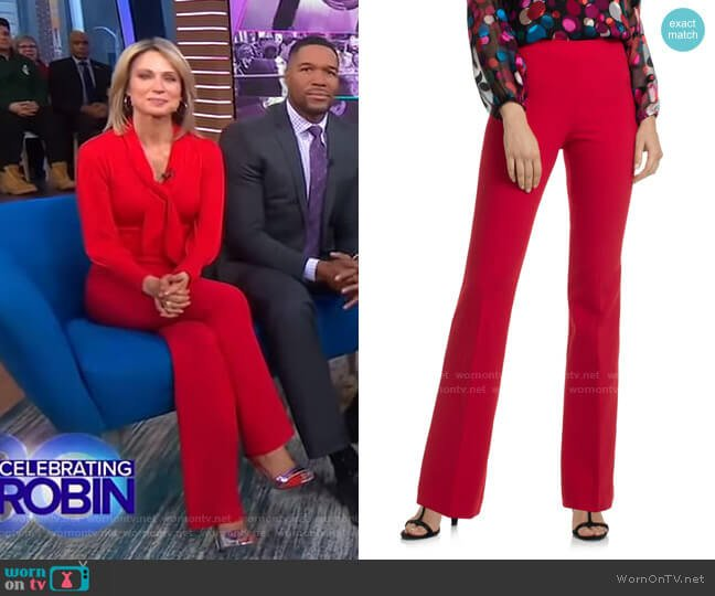 Chimayo Pant by Trina Turk worn by Amy Robach  on Good Morning America