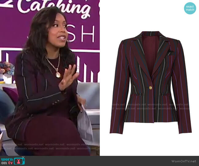 Noirs Jacket by Trina Turk worn by Sheinelle Jones  on Today