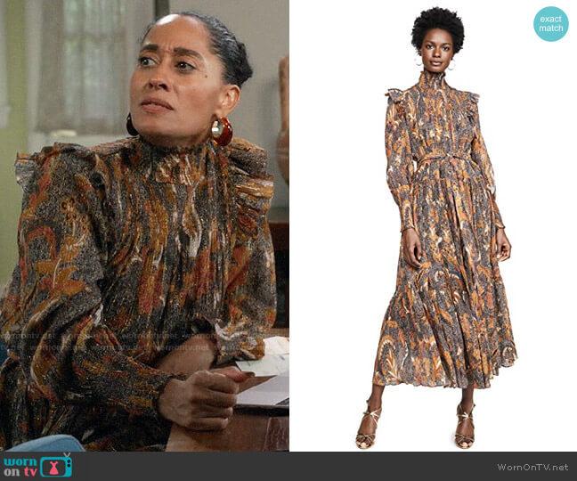 Ulla Johnson Constantine Dress worn by Rainbow Johnson (Tracee Ellis Ross) on Blackish