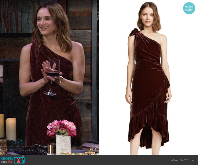 Ulla Johnson Elisa dress worn by Summer Newman (Hunter King) on The Young & the Restless