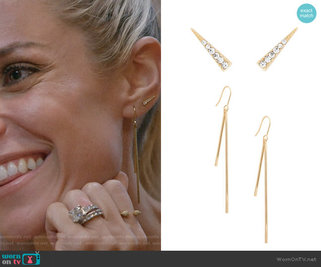 Uncommon James Park Avenue Earrings and 9th Ave Ear Climber worn by Kristin Cavallari  on Very Cavallari