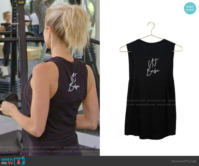 Uncommon James UJ Babe Tank worn by Kristin Cavallari  on Very Cavallari