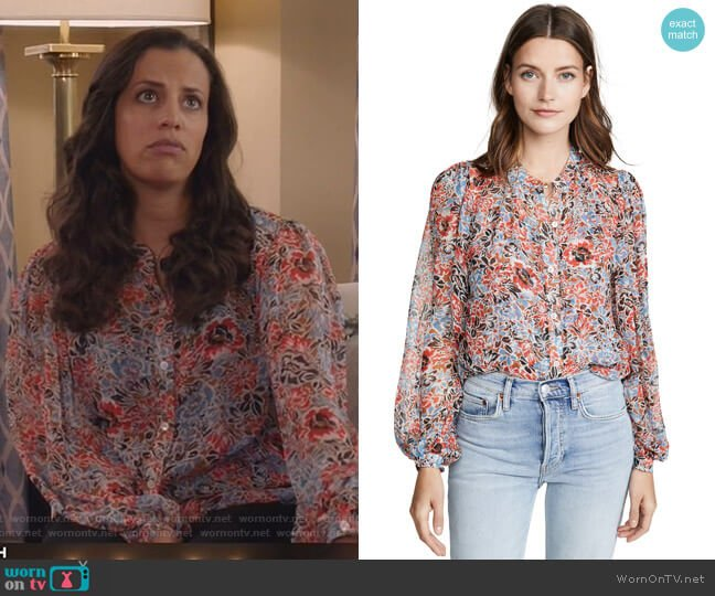 Ashlynn Blouse by Veronica Beard worn by Grace Stone (Athena Karkanis) on Manifest